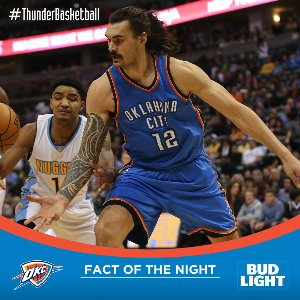 .@BudLight Fact. Going Into Final Rs Game, Thunder/NBA