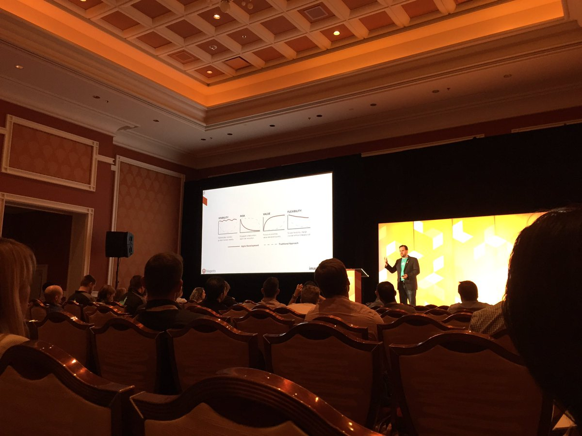 Falkowski: Nice job @robtull talking project requirements at @magentoimagine https://t.co/ysbwmNss5K