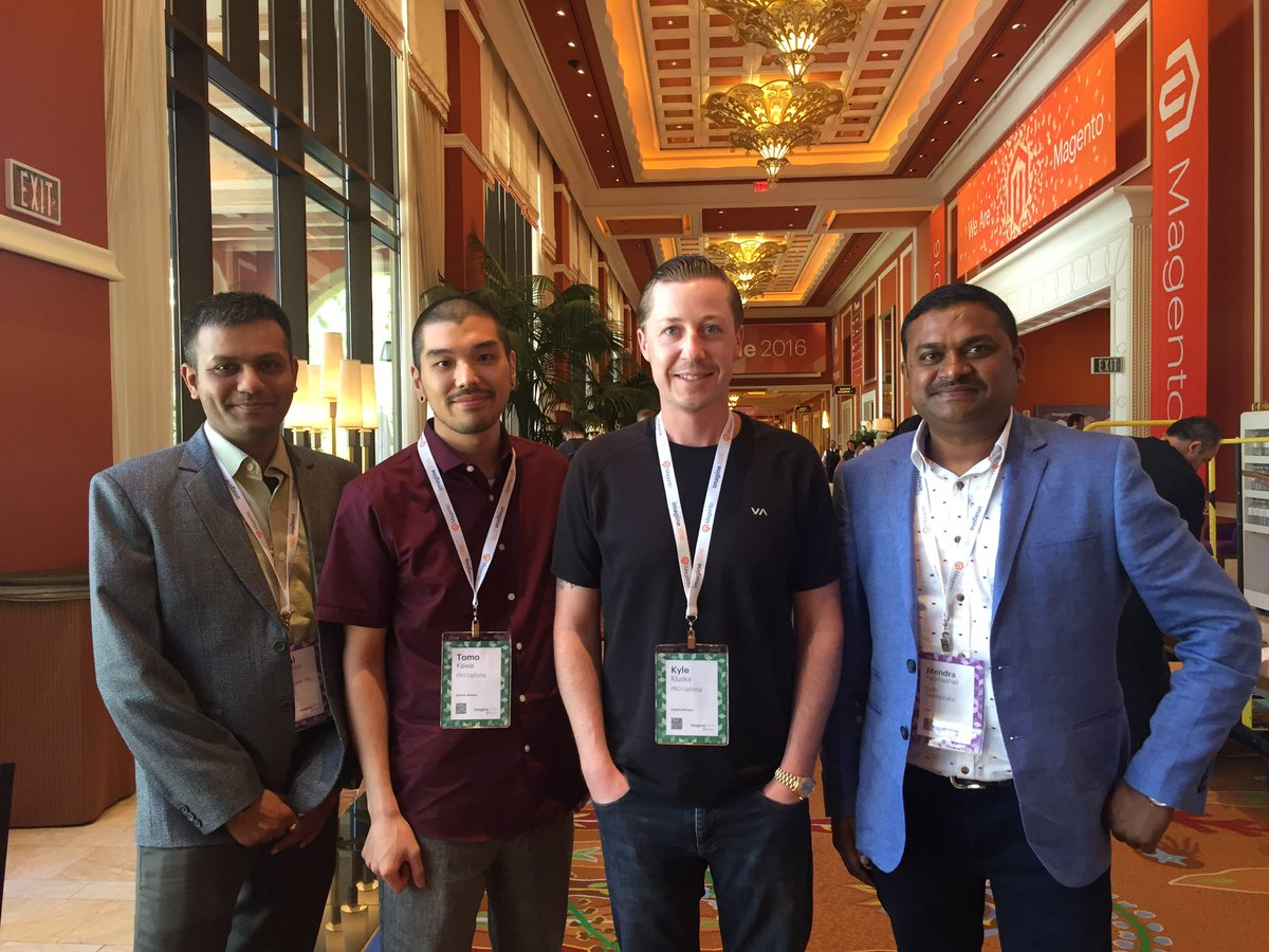 vatsalshah: @krishtechnolab - our proud project client ProLighting with @JitenPadmashali, finalist 4 award #MagentoImagine https://t.co/JNZ4MvTN29