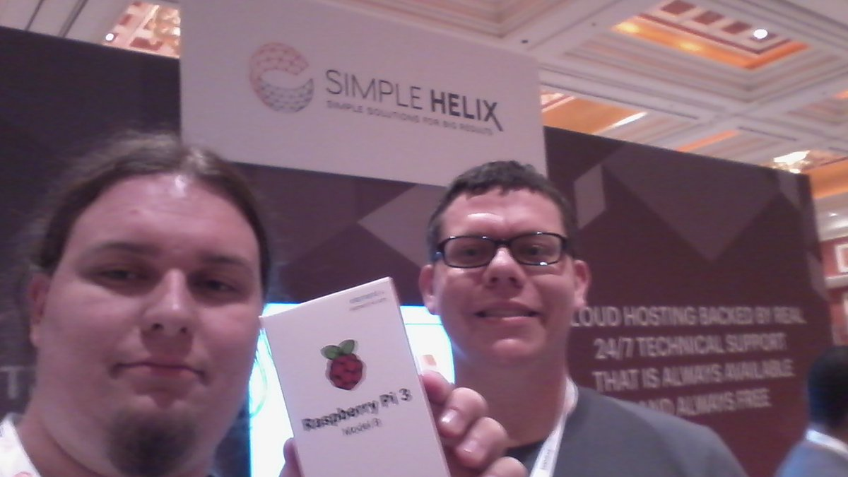 mamut144: Yey, I won #rasberrypi from @simplehelix raffle at #MagentoImagine https://t.co/dmIUh9TKl6