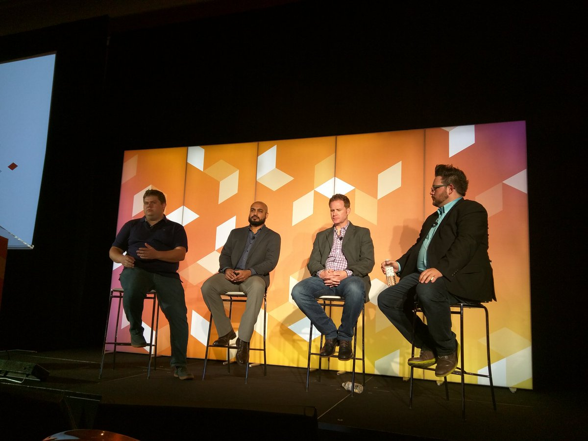 rescueAnn: Security panel for business leaders with @piotrekkaminski @_Talesh @philwinkle #MagentoImagine https://t.co/hEGulbZ8Lr