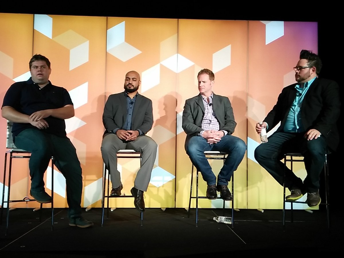 tutnix: Security experts panel at #MagentoImagine with @_Talesh @philwinkle @piotrekkaminski Alex cranmer https://t.co/FhPBn2kRMl