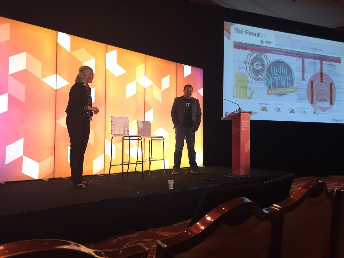 zilkerrob: Zilker and The Packers telling the Magento PackersProShop story at #ImagineCommerce @packers @ztechus #GoPackGo https://t.co/4YKZeSxdma