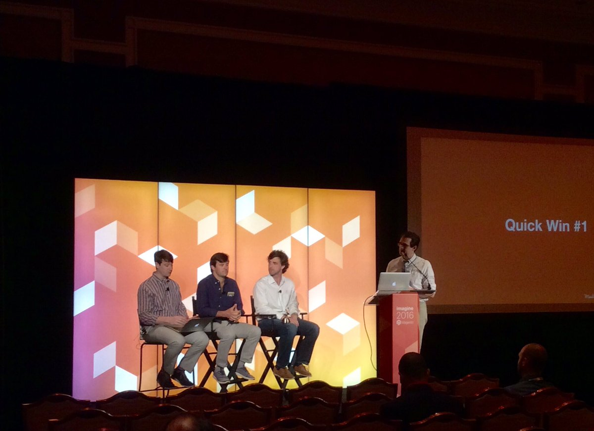 magento: 'You want to sell the things people want to purchase' discussion on segmentation @MailChimp session #MagentoImagine https://t.co/YfeIQqPX0R