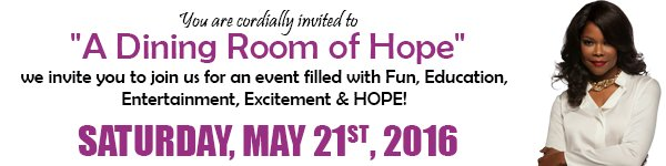"""""""A Dining Room of Hope"""" w/ @Angelarobschild benefiting Aaron's House Info: https://t.co/eMHy9WcYRm @HavesHaveNot https://t.co/cFWfRYjDAu"""