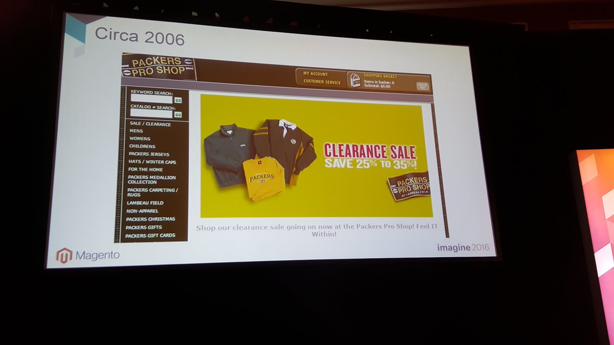 magento: Huge #mobile boost just one of the big changes for @packersproshop in 10 years @ztechus @mattskr #MagentoImagine https://t.co/x7NN6g1RBl