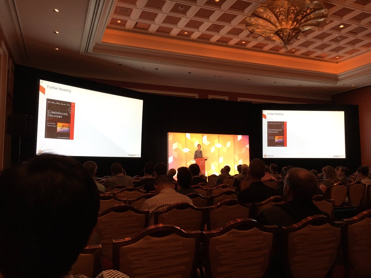 VinaiKopp: @jcowie on CI with M2! Great stuff! #MagentoImagine https://t.co/TljgZSRQlo