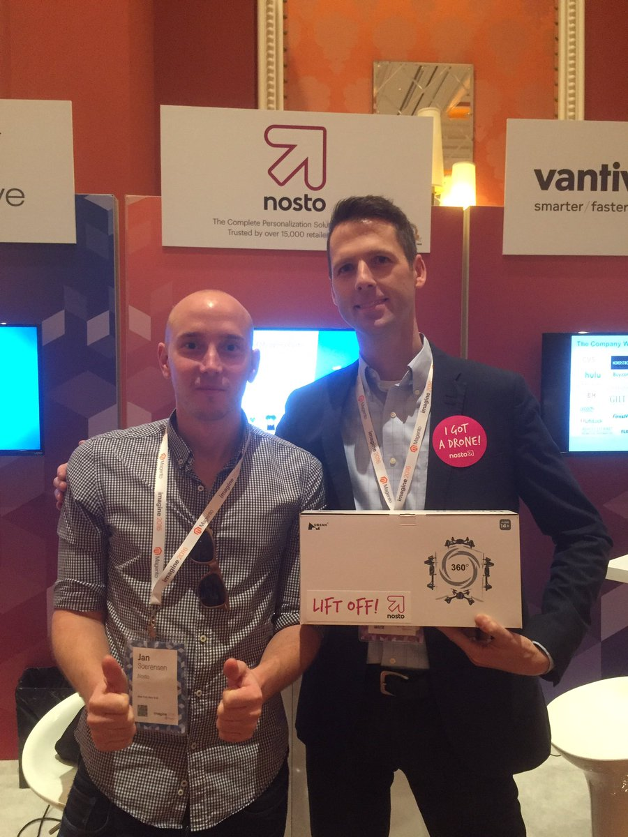 NostoSolutions: Lifting off with Adam from @EchidnaInc #Imagine2016 #MagentoImagine https://t.co/xEuuM0l58d