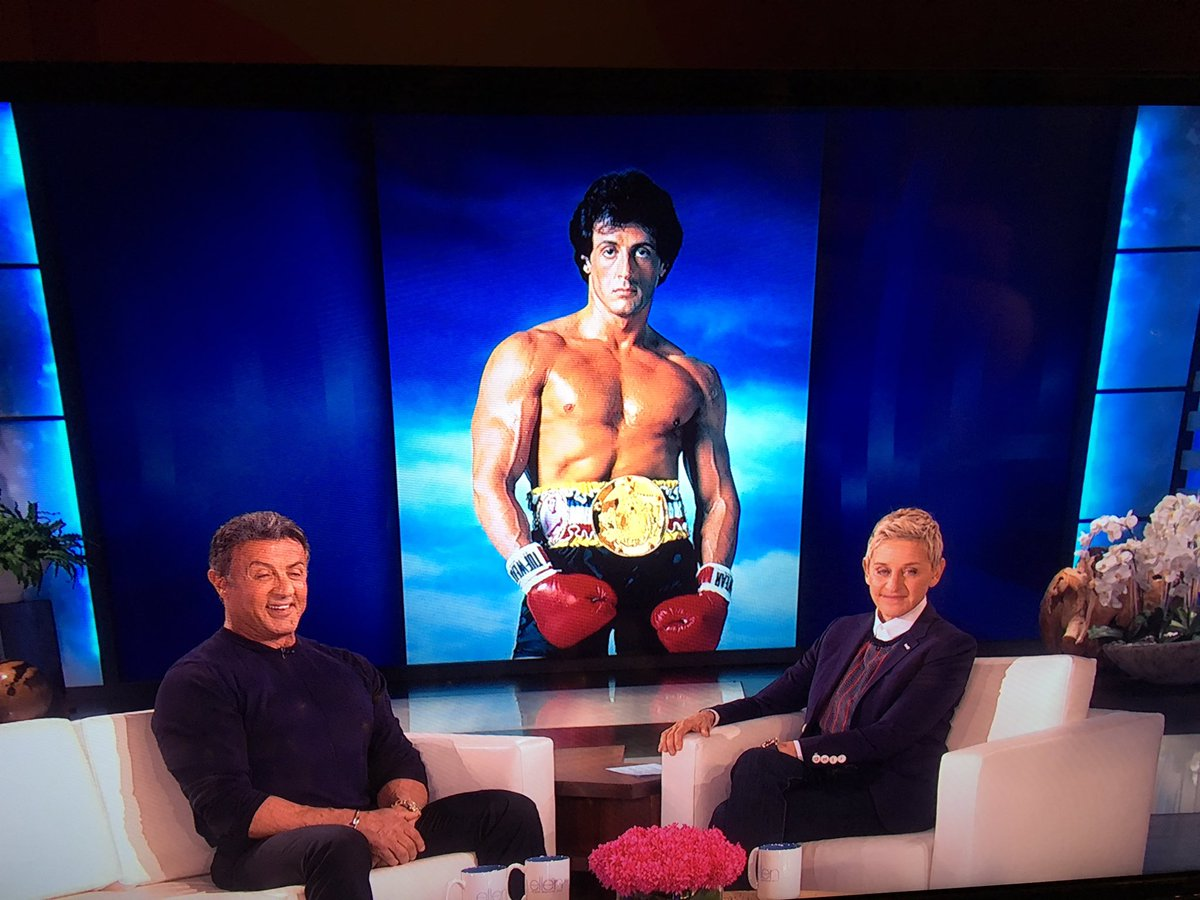 On the Ellen show this afternoon promoting new show Strong. People should love it! Very dramatic. https://t.co/7sSaZGPxXt