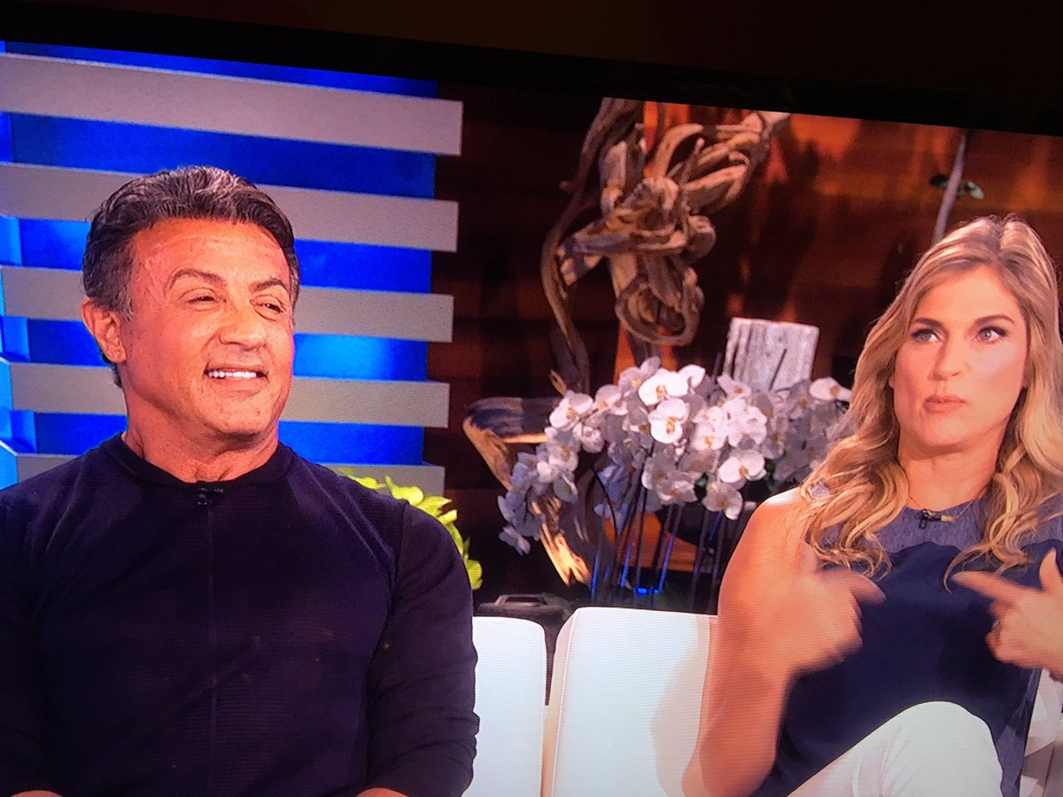 With Gabrielle Reece on the Ellen show… Promoting the show STRONG premiering tomorrow night! Great show. https://t.co/hExjiRdW1G