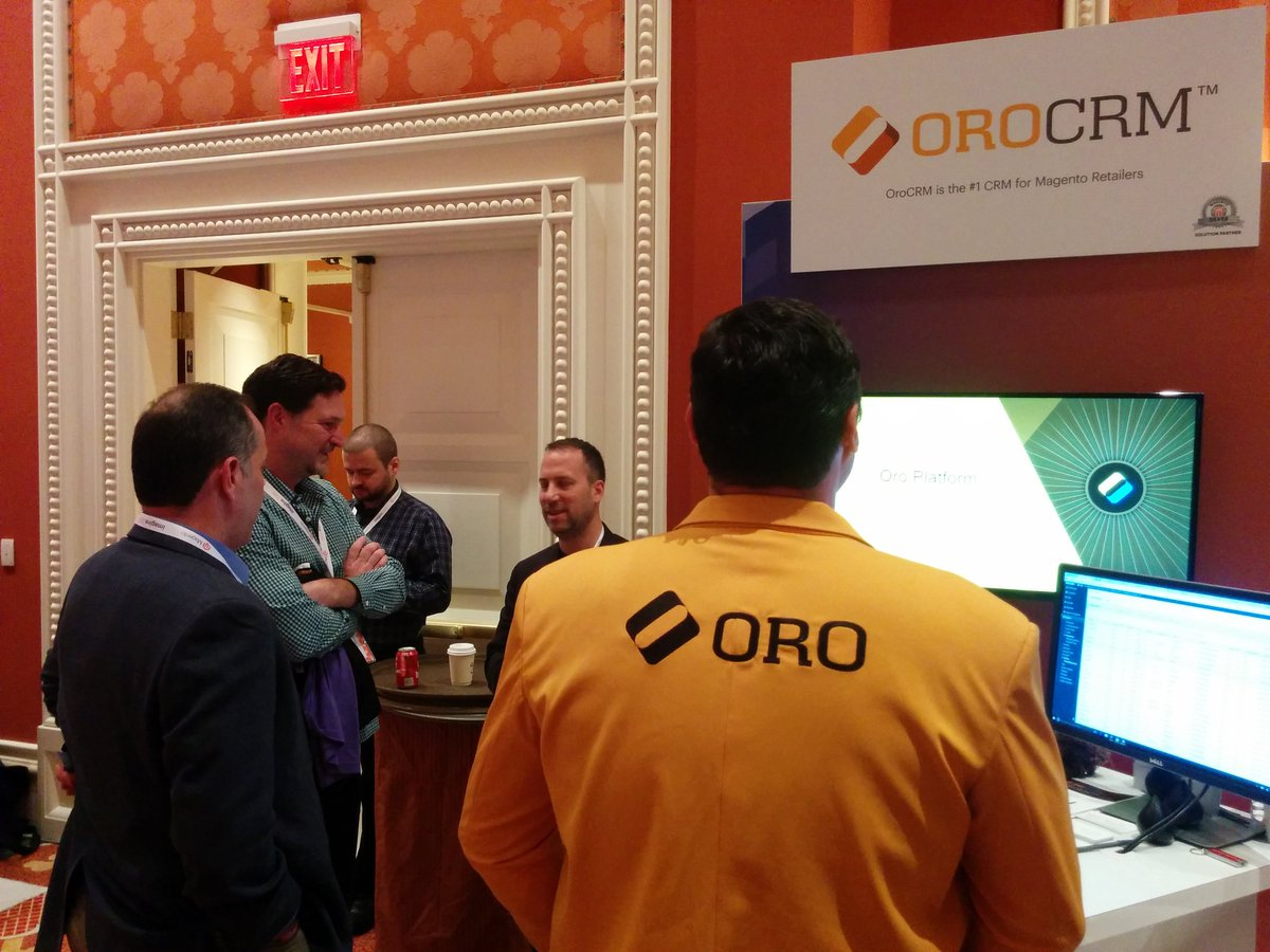 andrewgerasimov: .@mklave1 and @YoavKutner are discussing the future of @OroCRM & @OroCommerce at #MagentoImagine https://t.co/ApbvotMROF