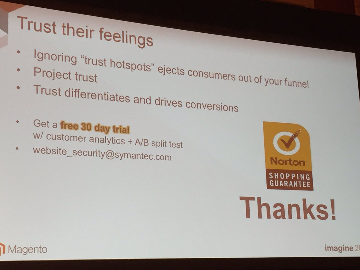 annhud: Free 30 day trial and free A/B split test @NortonOnline #MagentoImagine https://t.co/ayfk39bhJD