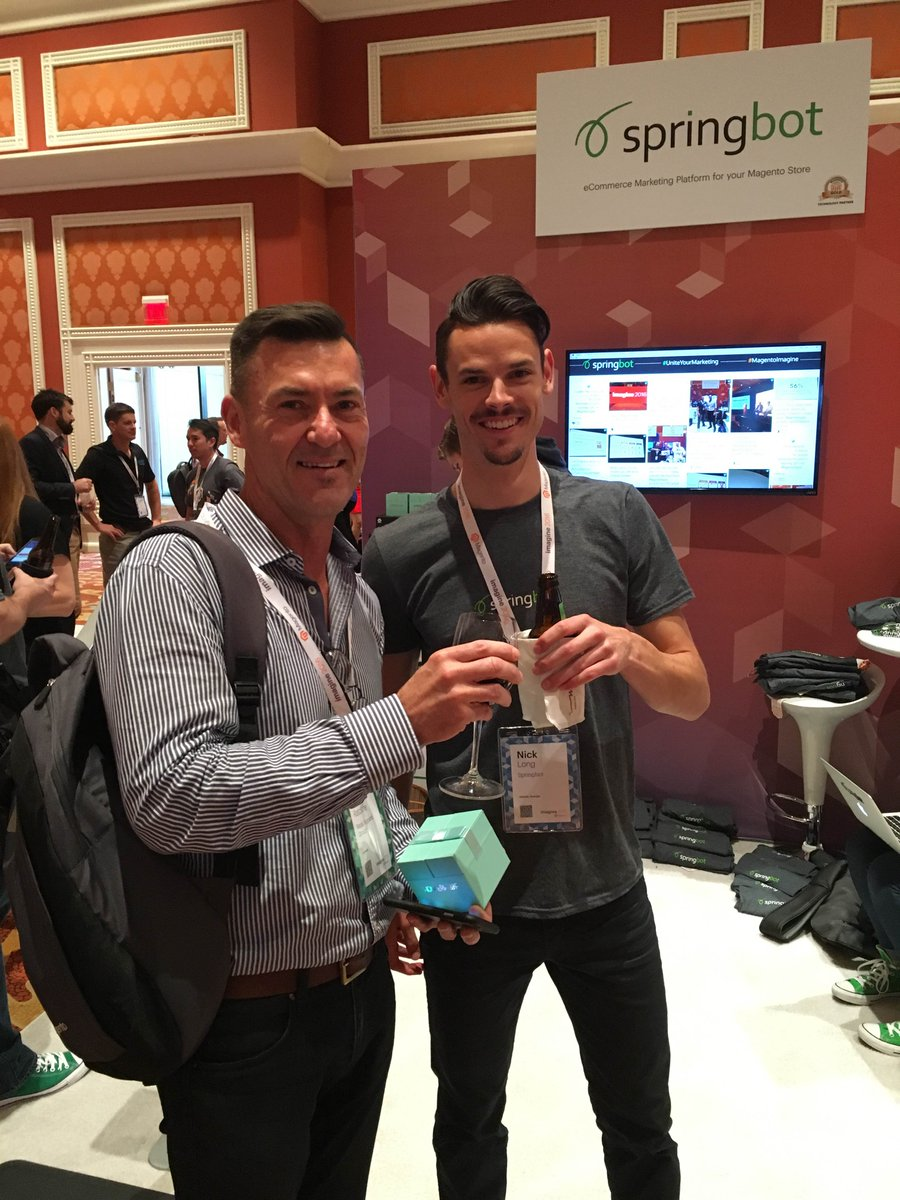 springbot: Another happy winner of the @WonderWoof activity tracker for dogs here at #MagentoImagine. #UniteYourMarketing https://t.co/IJFzRuBBFD