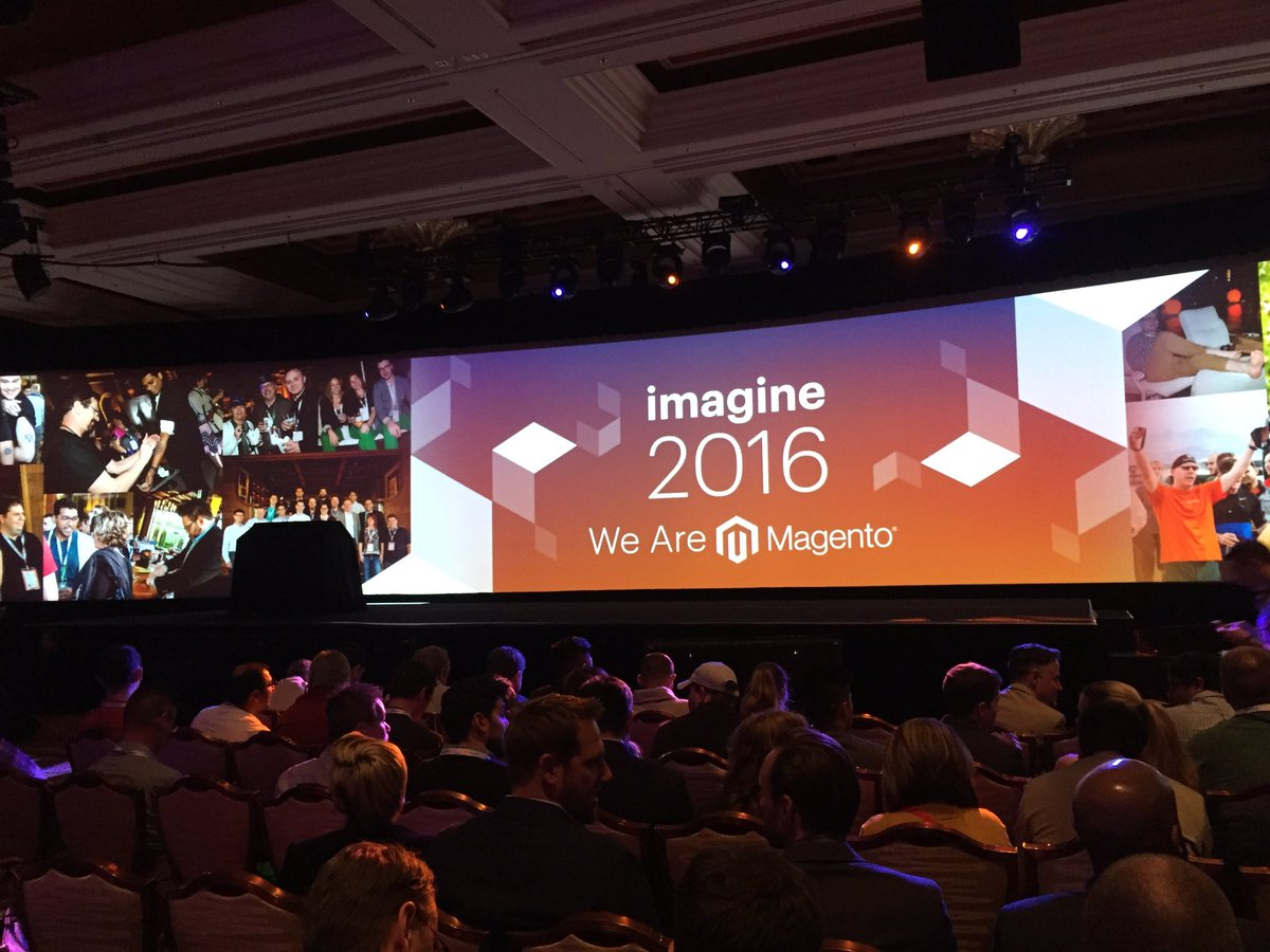 vaimoglobal: Waiting for our keynote speaker, @MagicJohnson 👏🏻#MagentoImagine #Vaimo https://t.co/SMFKinLyfO