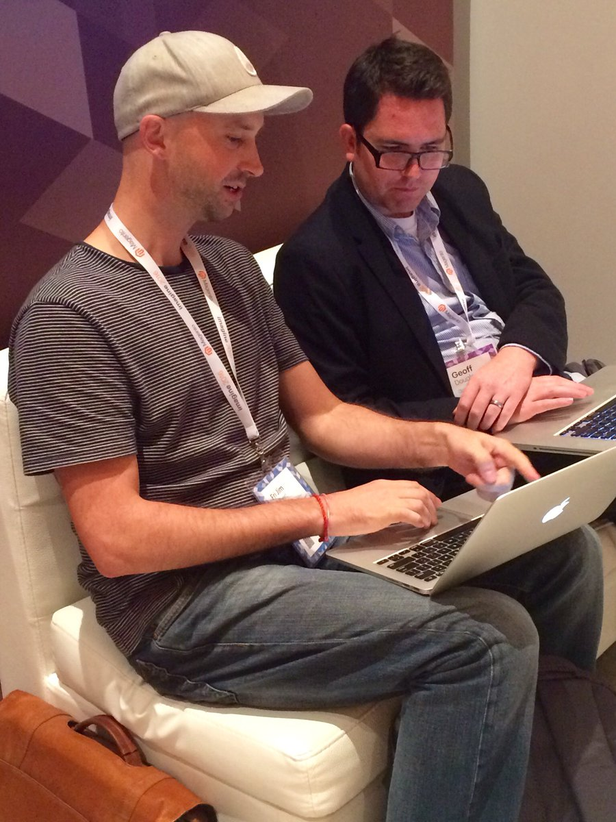 guidance: Geoff is introduced to a great new extension by Moogento #MagentoImagine #magento @magento https://t.co/YzS3oBOMKd
