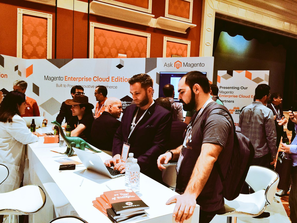 mmiller75: Eventful, exciting day at #MagentoImagine! #MagentoCloud booth was hopping! Now waiting for @MagicJohnson to speak. https://t.co/Fk6NCIWUir