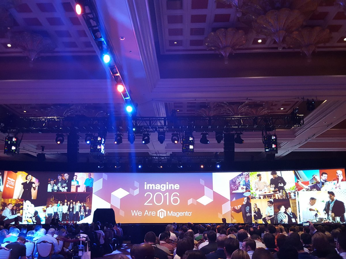 efimagento: #MagentoImagine General Keynote about to start #magicjohnson https://t.co/rGvz4OUyXX