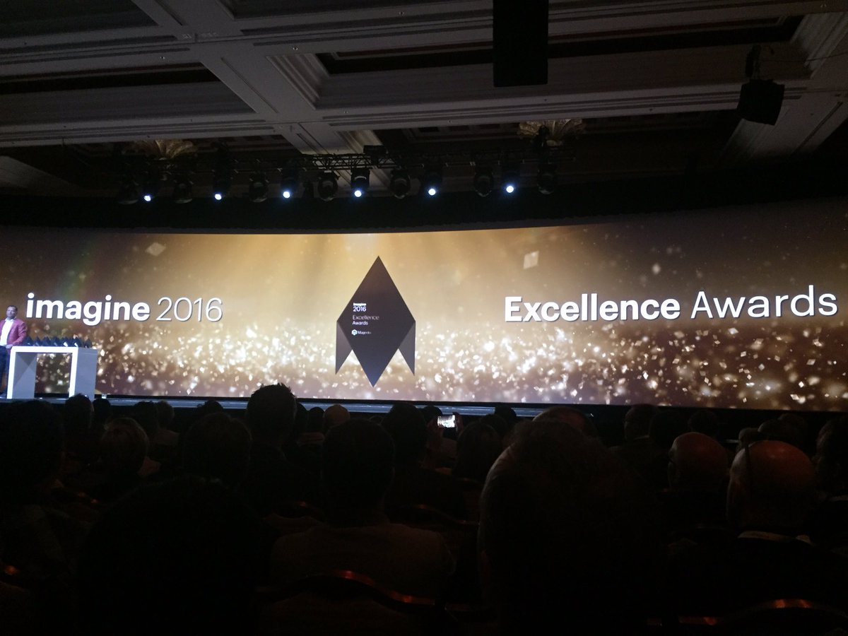 vaimoglobal: Celebrating creativity, innovation and success at Imagine 2016 Excellence Awards #MagentoImagine #Vaimo https://t.co/uJ4upblIYk