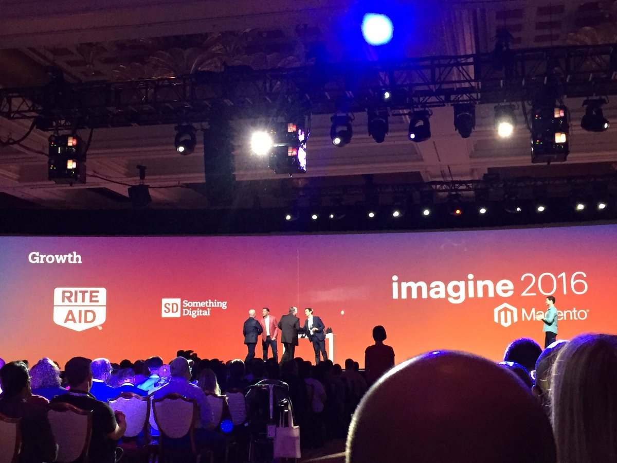 magento_rich: #MagentoImagine 2016 excellence award for Growth: @SomethingDigitl @riteaid https://t.co/CJoKEXmD5n