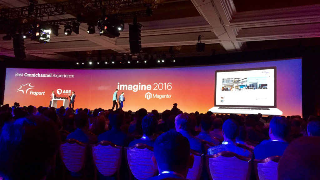 ericerway: Congrats to Fraport on winning the Imagine Excellence Award for Omnichannel this year. #MagentoImagine https://t.co/SEfoJpOA0n