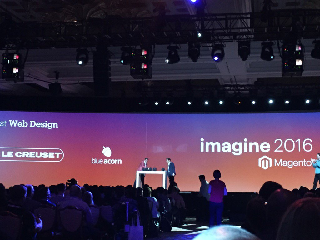 magento_rich: #MagentoImagine 2016 excellence award for Best Design: @blueacorn https://t.co/F2p1wywxDd