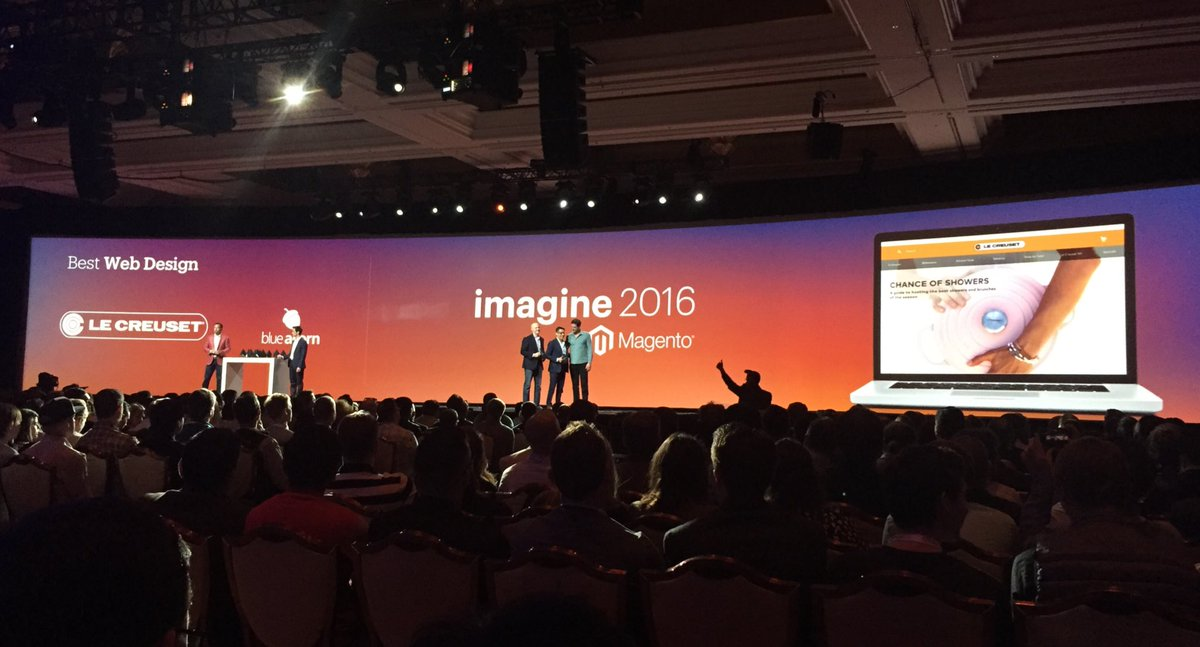 annhud: Hey - I have one of those! @lecreuset wins Best Web Design at the Magento Awards at #MagentoImagine https://t.co/2XnViI4Yoa