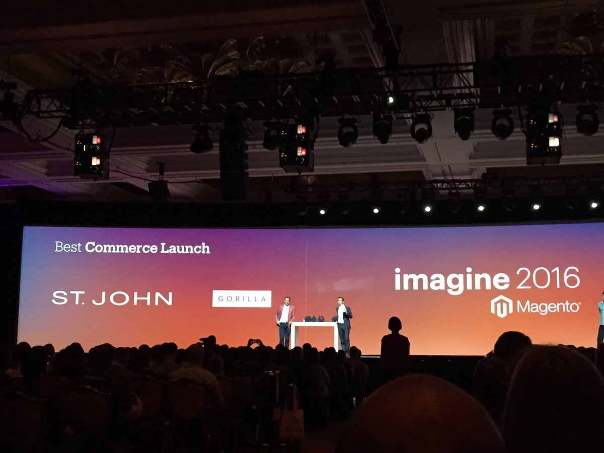 magento_rich: #MagentoImagine 2016 excellence awards for Best Launch: @GorillaCommerce St John https://t.co/iTh8EqTl6g