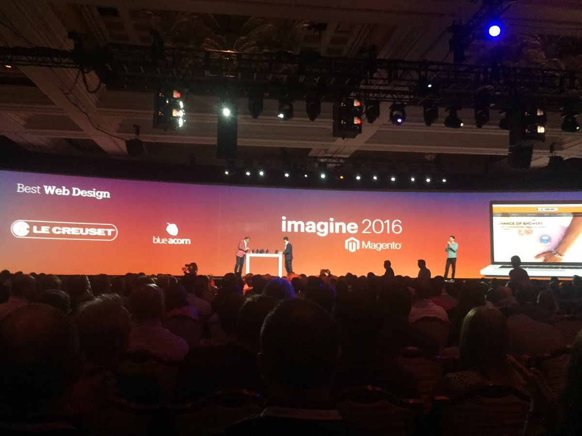 blueacorn: Proud to accept the #MagentoImagine Excellence Award for Best Web Design with our client @lecreuset! https://t.co/HmKV9rSCLz