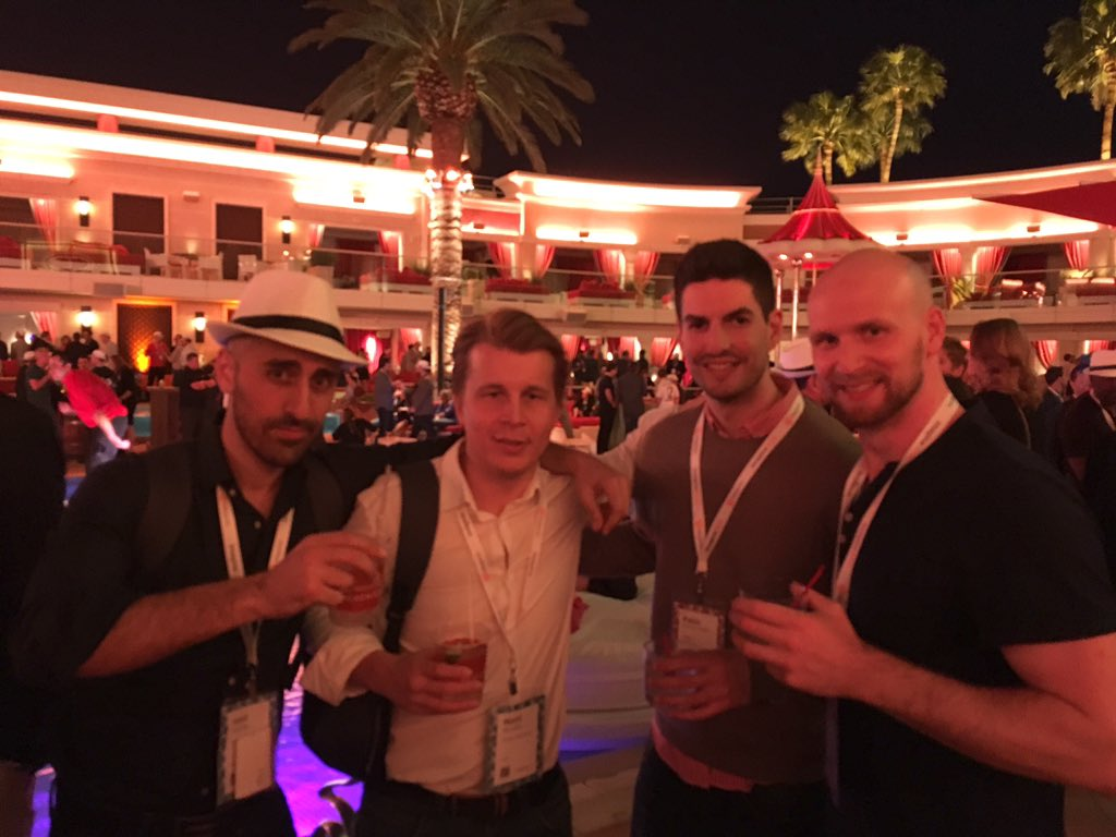 NostoSolutions: Hanging out by the pool with our friends at @flagbit. #toughlife #MagentoImagine https://t.co/mw2Xq7YZA6