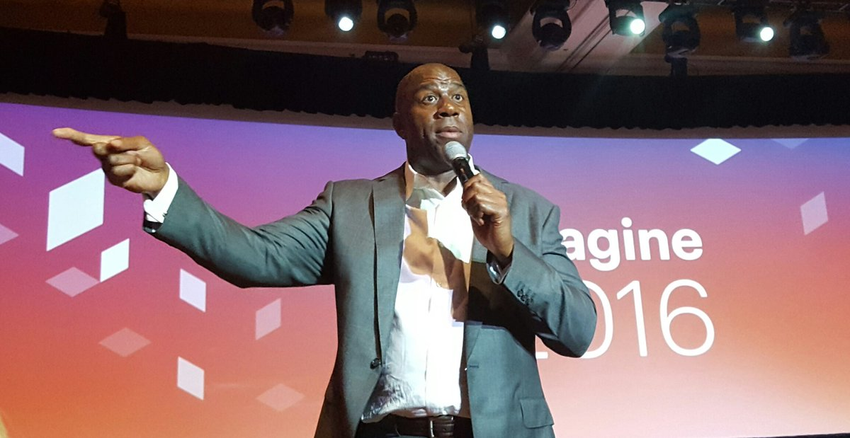 BrendanWitcher: Earvin 'Magic' Johnson showing us the way at #MagentoImagine https://t.co/2yL06JGwNH