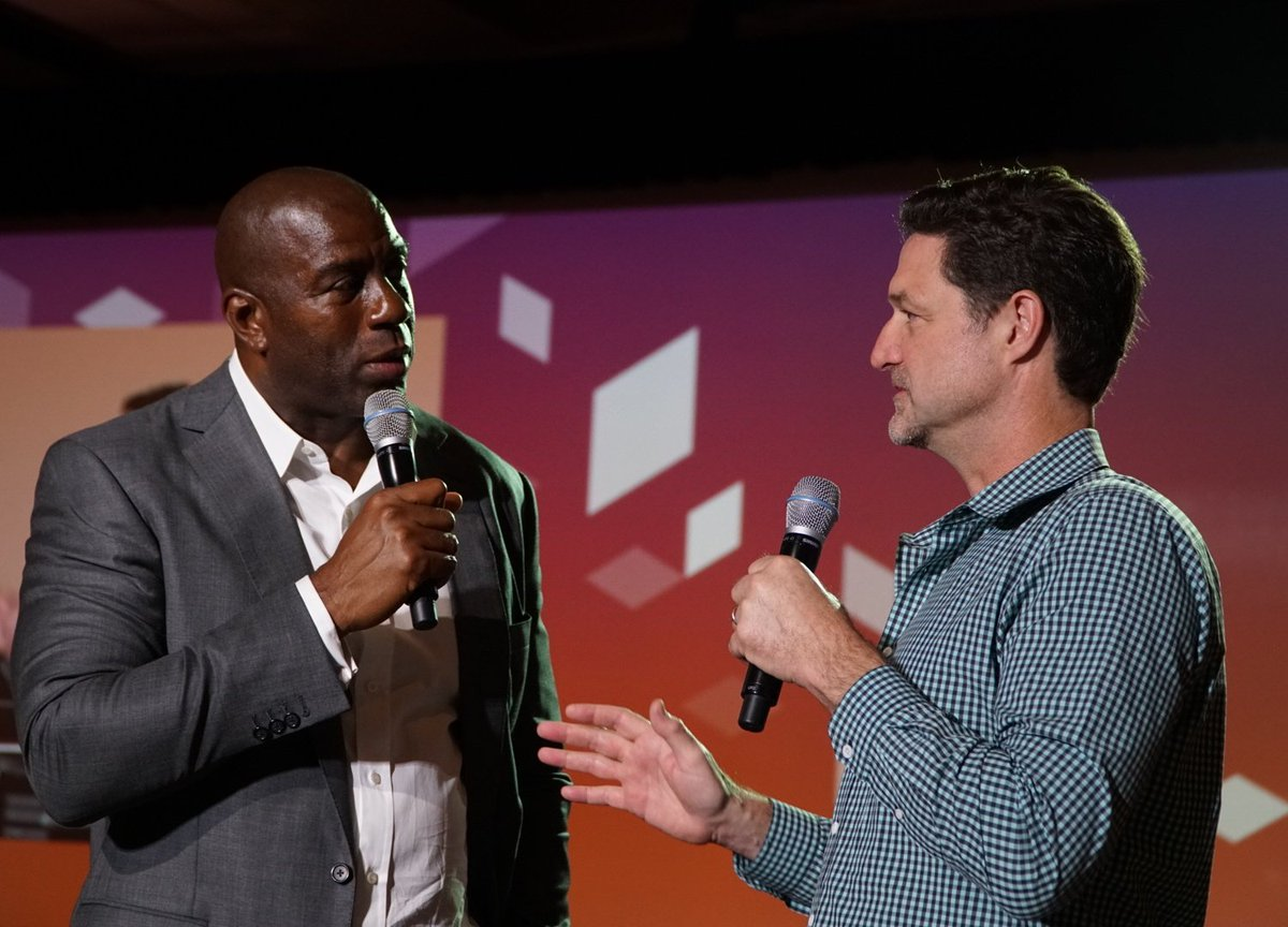 wejobes: @MagicJohnson inspiring and entertaining us all at #MagentoImagine https://t.co/NoNdrx9LaH