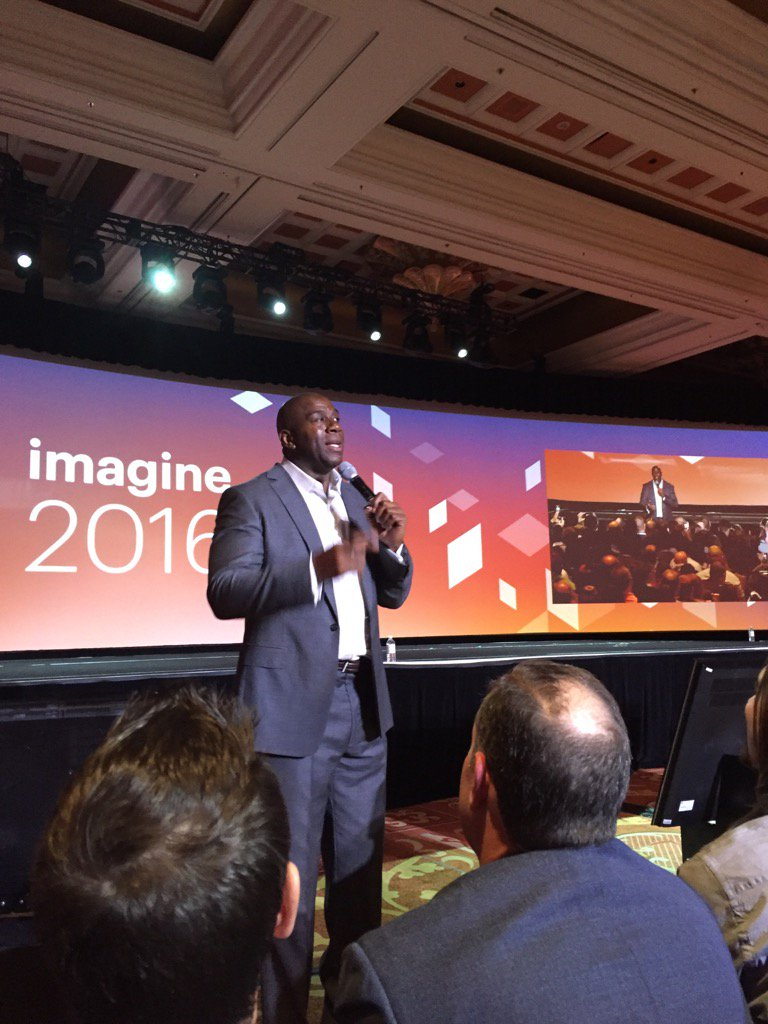 jerrysheldon: #MagentoImagine Great time with Magic Johnson and @magento https://t.co/J1eL34rcx6