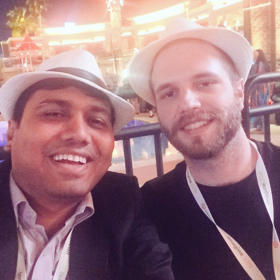 bhaveshsurani: Magento Imagine Evening Party With Wesley Guthrie #MagentoImagine #magento #Imagine2016 #wesleywmd https://t.co/sMc7wzC2QK