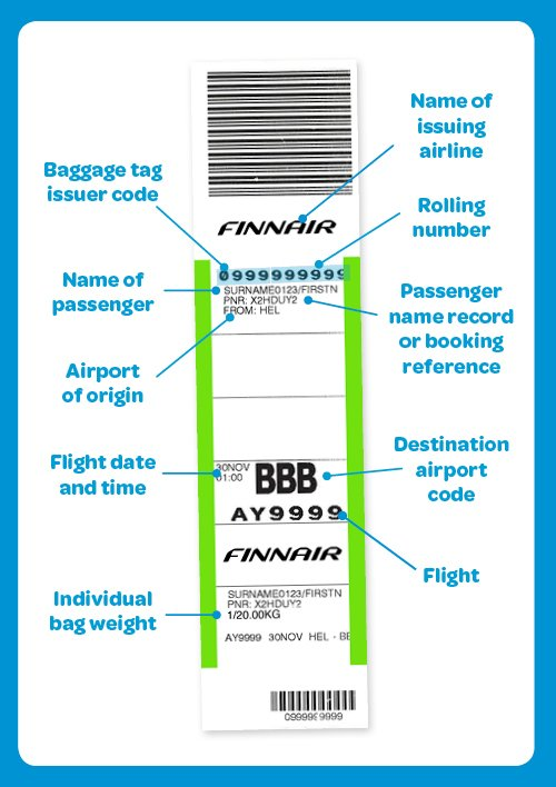 RT @HelsinkiAirport: Everything you ever wanted to know about airline baggage tags!