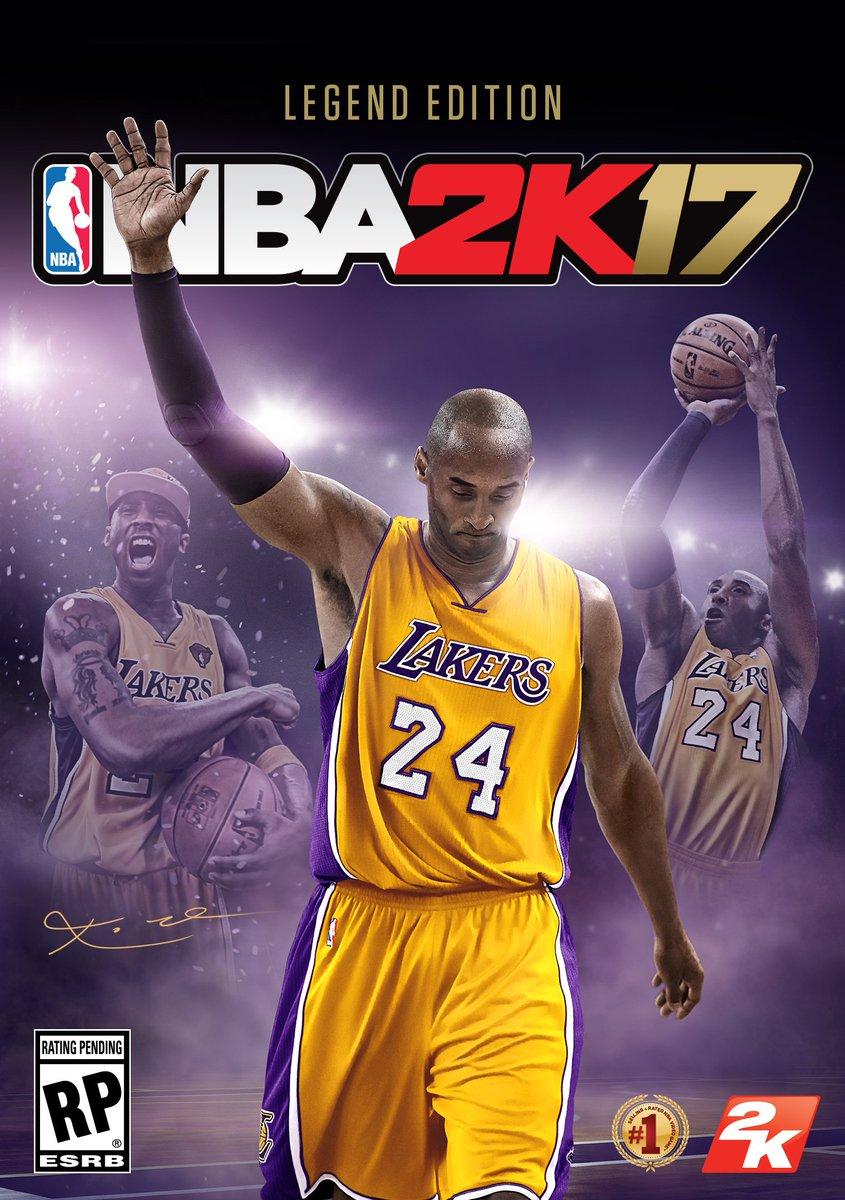 #LegendsLiveOn @KobeBryant on cover of #NBA2K17 Legend Edition celebrating iconic career! https://t.co/1XQsShU8l7 https://t.co/qVDn3VXVUm