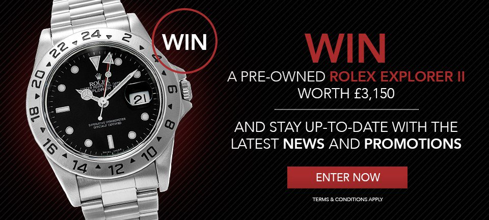 WIN a pre-owned Rolex Explorer II. Simply sign up to our newsletter for your chance to win: https://t.co/Tw6ZjEfVmL https://t.co/sYM88gRdt2