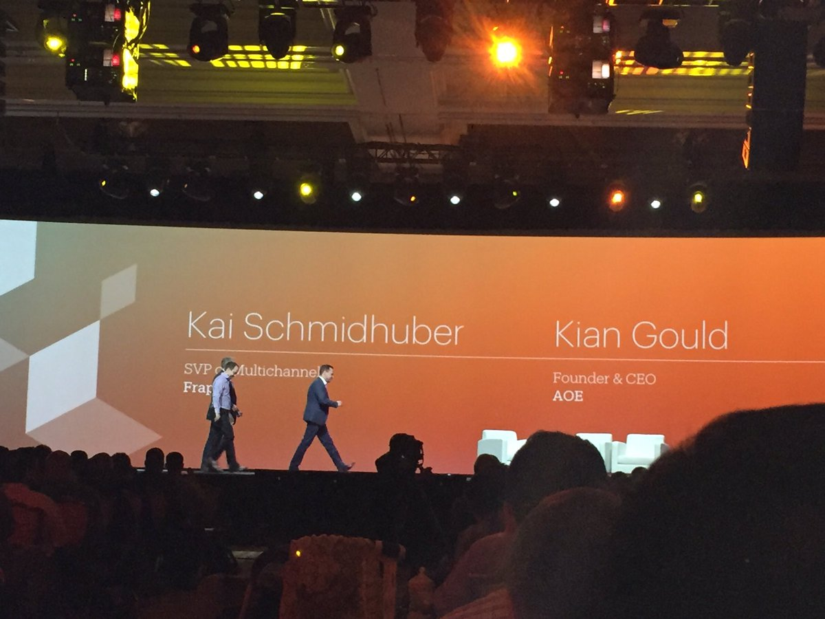 magento_rich: Kai Schmidhuber, Kian Gould on stage to talk about the omnichannel implementation at @Airport_FRA #MagentoImagine https://t.co/MEDcm7ibGx