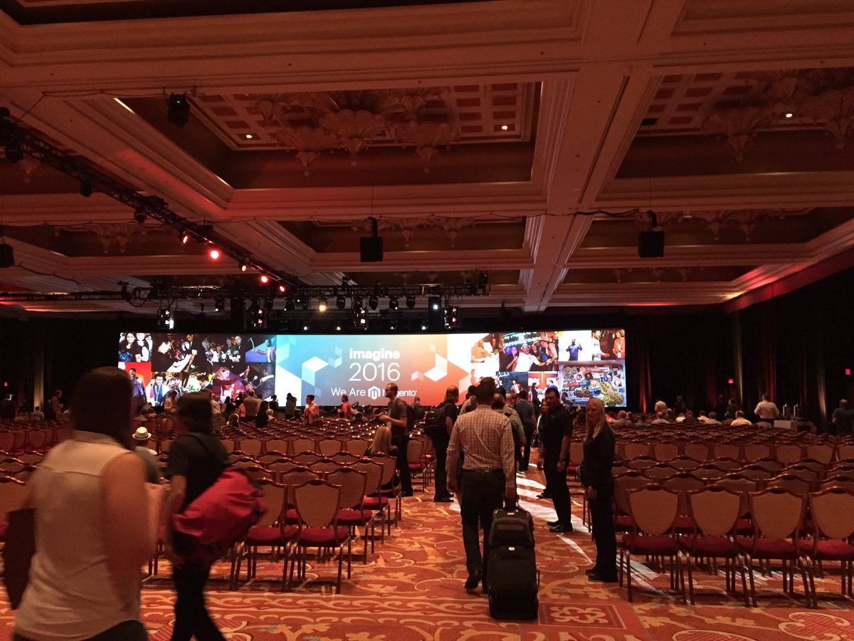 magento_rich: Keynote is about to start. Make your way over here. #MagentoImagine https://t.co/3UoGxuz18d