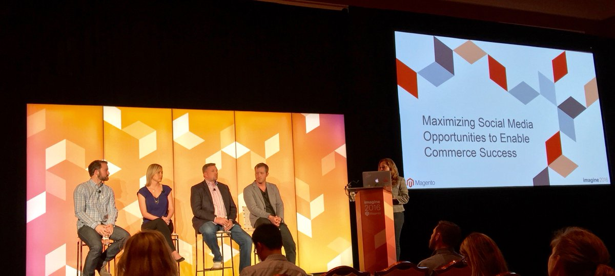 Creatuity: Missed @MagentoJenna's social panel? Find her or @JoshuaSWarren today to chat Pinterest Buyable Pins #MagentoImagine https://t.co/AT8RetgFaL