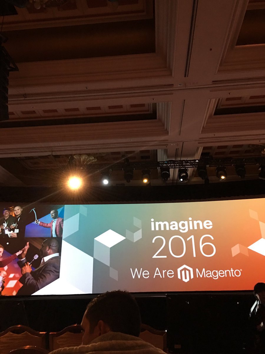 phil_collin_us: Pretty sure this spotlight at #MagentoImagine #keynotespeakers #conference are targeting my eyes. #blindedbythelight https://t.co/H6Oq9VkVPS
