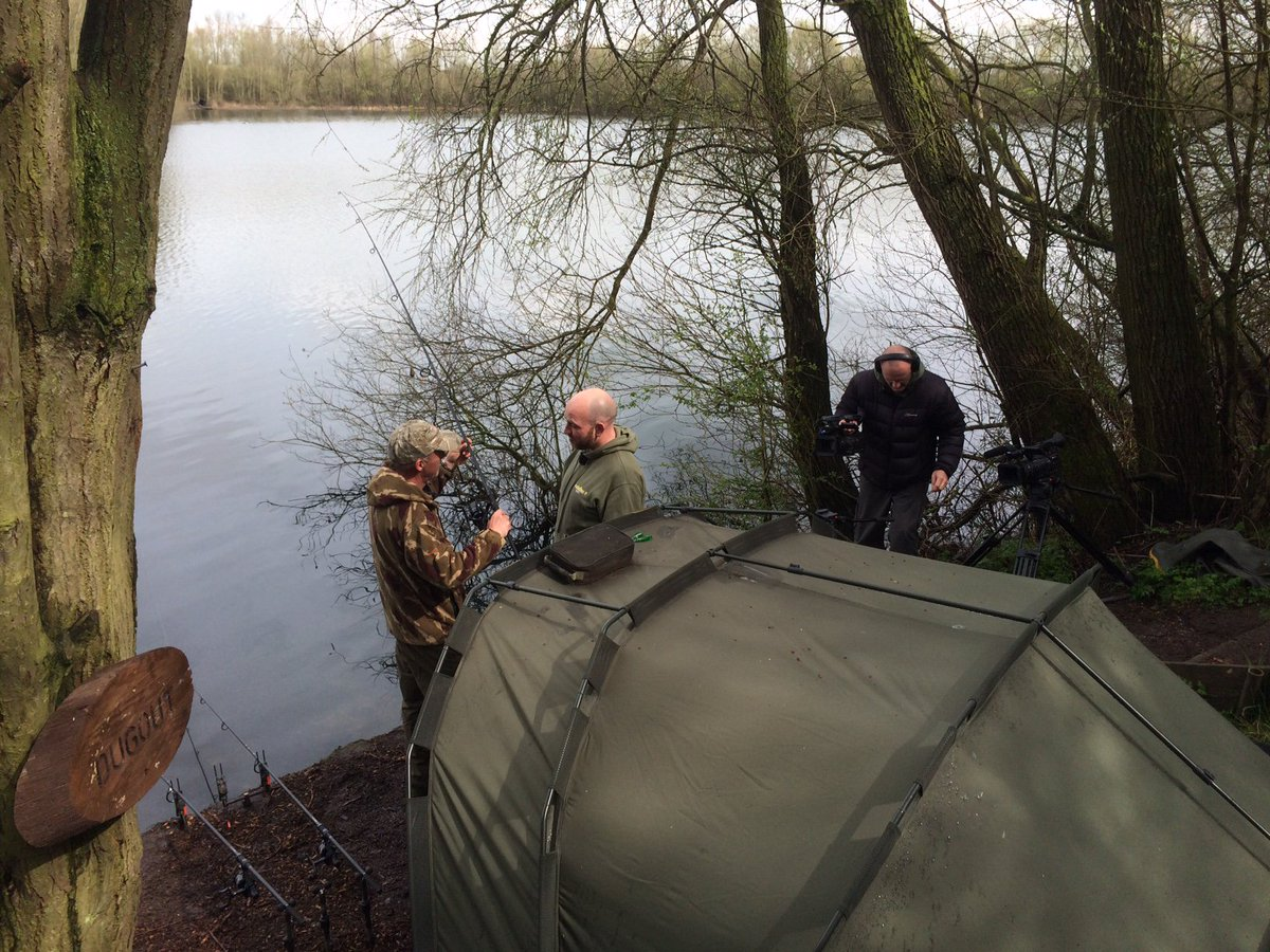 DVD shoot with @TotalCarpMag underway! Laney on the Quarry fishery. Weather has been much better tod