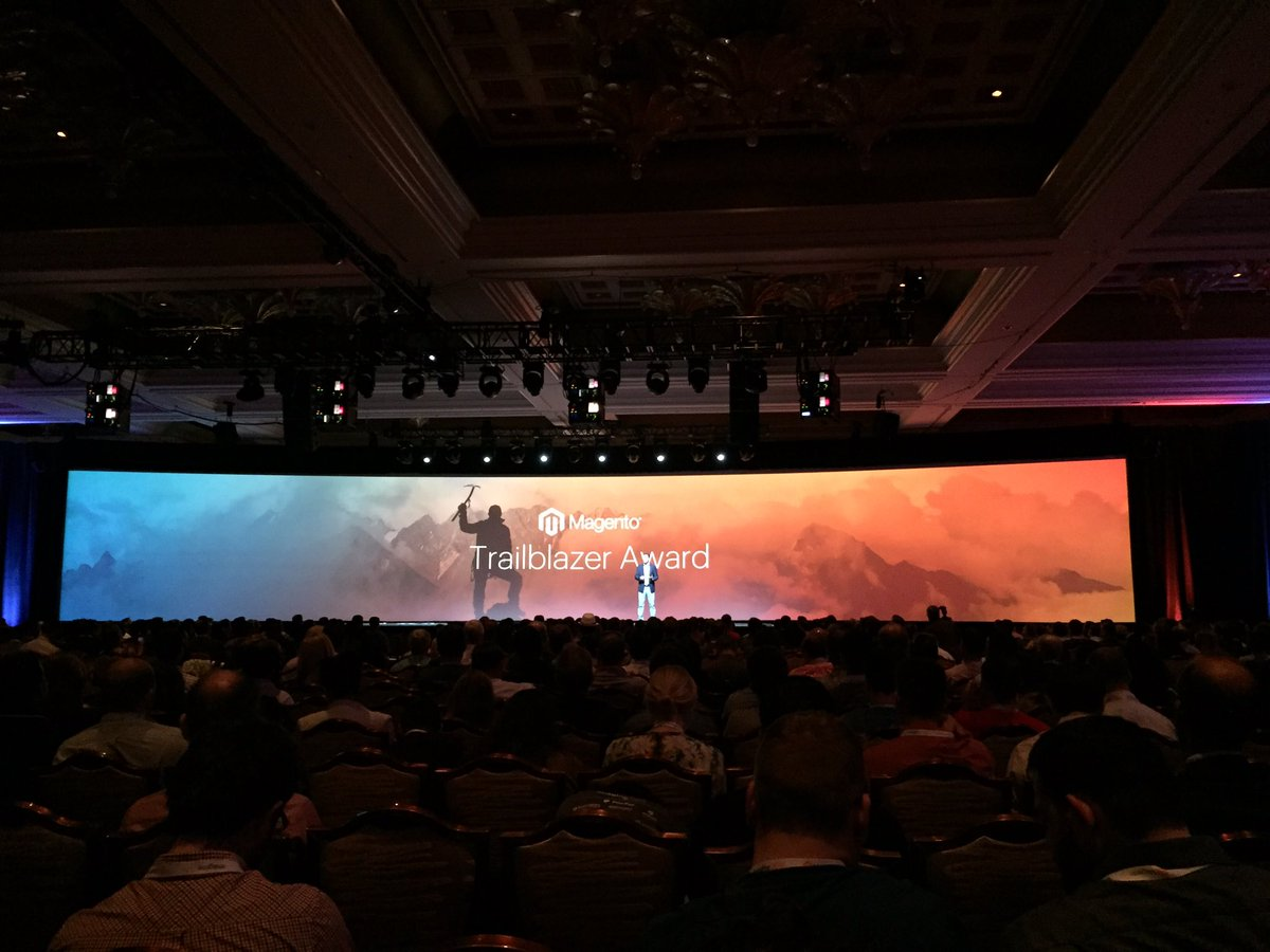 WebShopApps: Trailblazer reward time #MagentoImagine https://t.co/XcNQQv4G6E