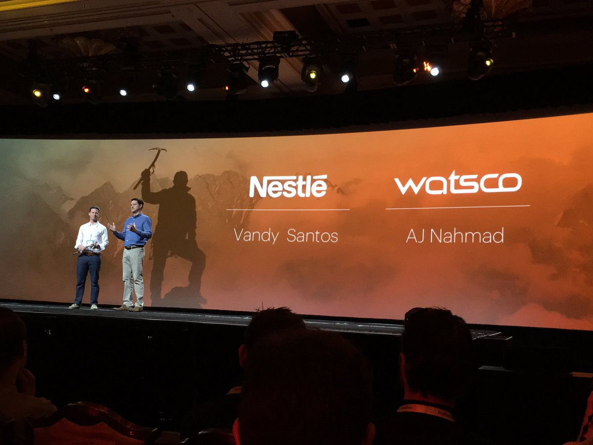 altima_na: Congrats @Nestle and @watsco for the trailblazer award #MagentoImagine #Imagine2016 https://t.co/CEAUK6U3Su