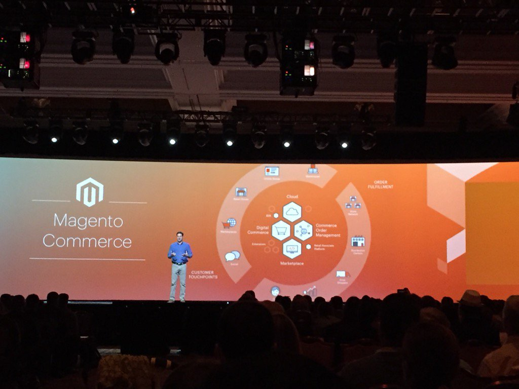 magento_rich: .@mklave1 gives overview of the omnichannel. #MagentoImagine https://t.co/w74fJGSMYB