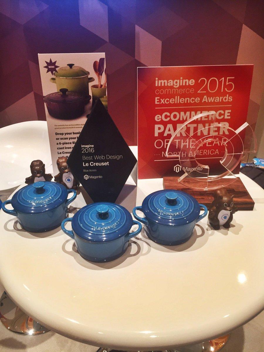 gelizabeths: .@blueacorn showing off Best Web Design award for our client @lecreuset on the last day of #MagentoImagine https://t.co/ACyyL0tbN7