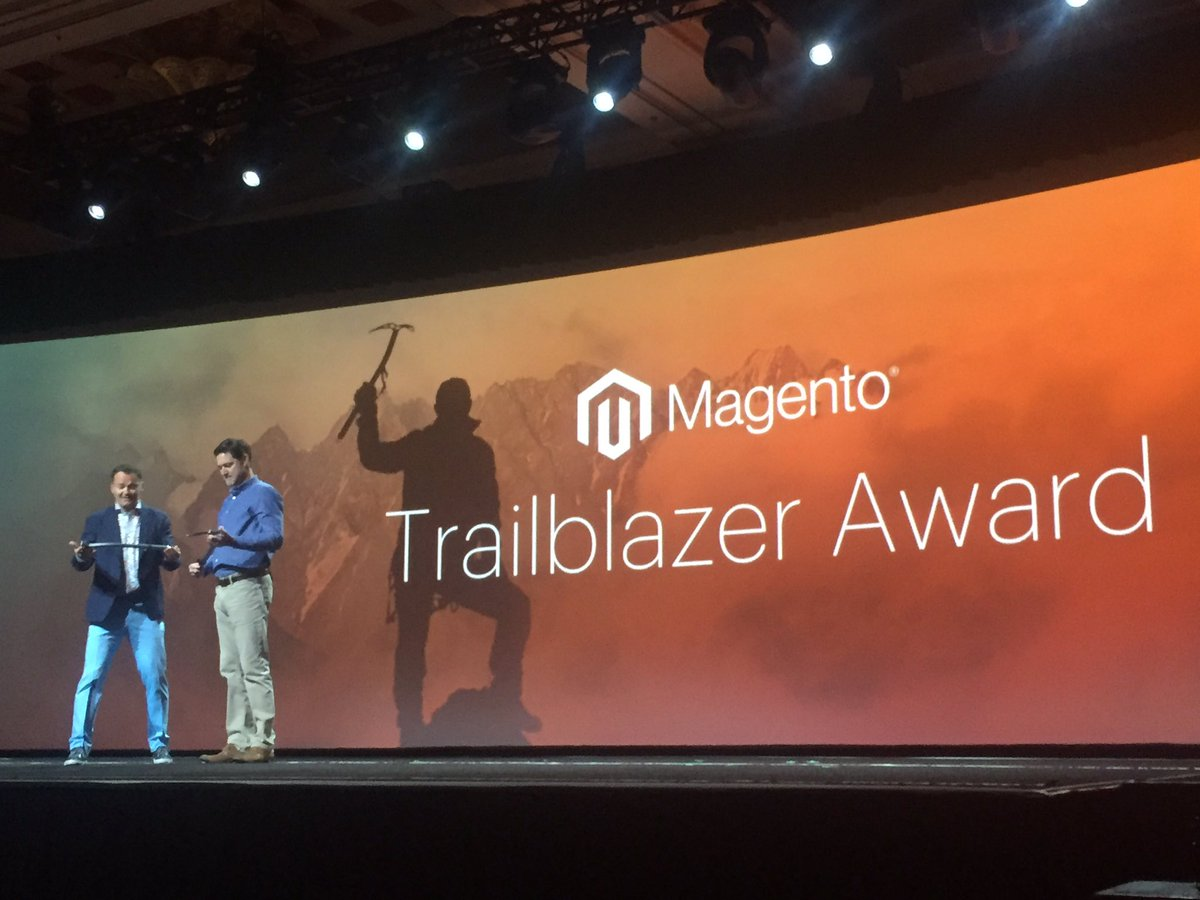 vaimoglobal: Great job to Vandy Santos,  @Nestle and AJ Nahmad, @WatscoInc  for winning the trailblazer awards @magentoimagine https://t.co/WMDi9A9XW4