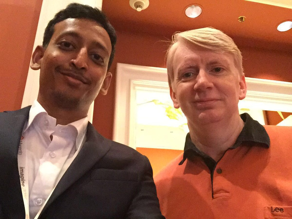 fstechno: thats how we roll...@MohdSheriffUSA our CTO and magento chief architect Alan Kent @akent99 .... #MagentoImagine https://t.co/ufNVvNXBt1
