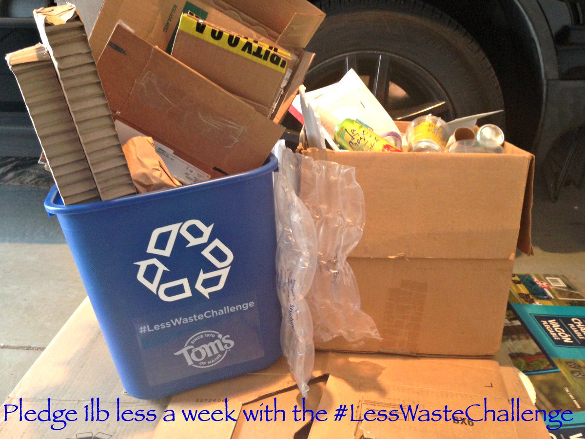 Join me in the @TomsofMaine #LessWasteChallenge - reduce trash by 1 pound in week! #recycle https://t.co/hFPdDILNUB https://t.co/5TouE12uOC