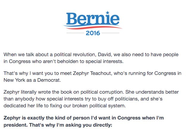 This Is New Bernie Sanders Lending His Name To Fundraising Letters