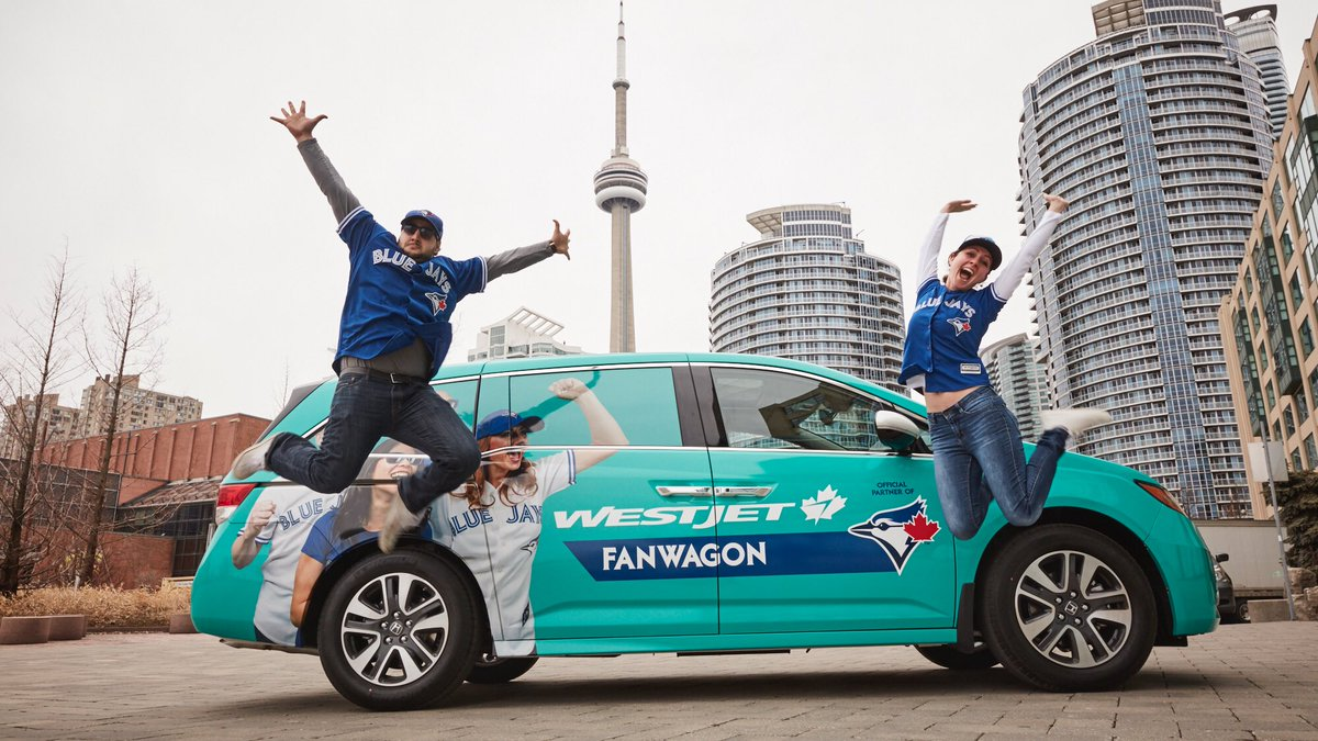 Meet the WestJetFanwagon! Our newest fleet member may treat you to a @BlueJays experience.